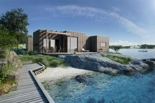 Systemhus og Tveit & Torgersen Byggmester AS leverer også ferdigbygde hytter